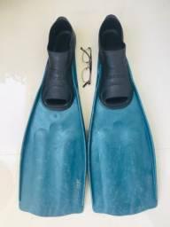Nadadeira de Mergulho SeaSub tamanho 41-43 verde semi nova