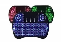 Mini teclado sem fio com led para tvbox xbox360 / ps3 / pcs / notebooks / tablets / smartv