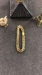 Pulseira Grumet 10 mm banhado a ouro 18 k