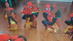 Título do anúncio: 6 displays de mesa + toalha Homem Aranha