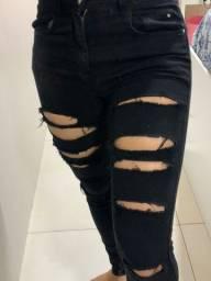 Calça jeans preta n°34