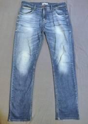 Título do anúncio: Calça Jeans Slim Fit Azul-Claro Tam 42