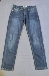 Título do anúncio: Calça Zara Jeans Slim Fit Azul-Marinho-Escuro Tam 42