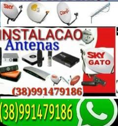 Título do anúncio: Antenas antena Antena instalacao e apontamento
