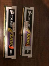 2 Pentes de Memória RAM 2gb DDR3 1333mhz com Dissipador