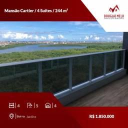 Mansão Cartier / 4 Suítes / 244 m²