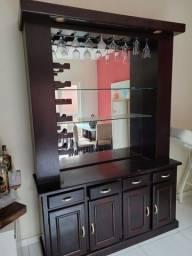 Título do anúncio: Barzinho de Madeira com Espelho 4 gavetas e 4 portas