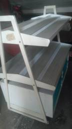 Estante 8 gavetas alumínio e aço