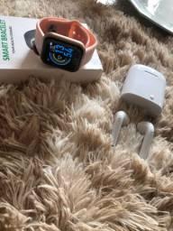 Kit smartwatch e fone i7S