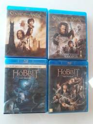 O Senhor dos Aneis 1 e 2, O Hobbit 1 e 2, BLU RAY