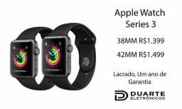 Apple Watch Series 3 - Lacrado, Um ano de garantia