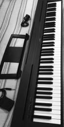 Piano Digital Yamaha P-35 P35 + Pedal + Fonte + Suporte Partitura + Suporte X