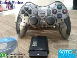 Controle Pc Gamer 7 Em 1 Wireless Sem Fio Inova