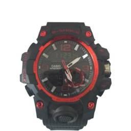 a5bd7a9dbc2 Relógio G Shock Preto Com Vermelho