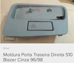 Moldura Maçaneta Interna Traseiro Porta Blazer / S10 Original