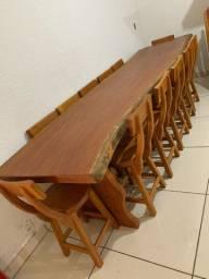 Mesas rústicas e semi rústicas