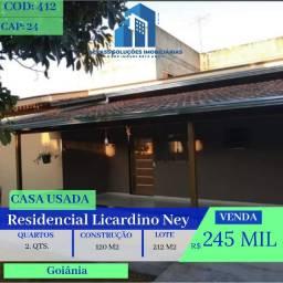 Casa De 2 Quartos - Residencial Licardino Ney - Goiânia
