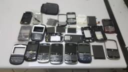 Lote De Mais De 250 Peças De Blackberry Aparelhos Telas Etc