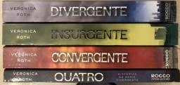 4 Livros da série Divergente em bom estado