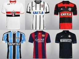 Camisas de times nacionais e importadas