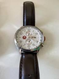 Relógio Tommy Hilfiger Masculino em Couro Marrom Original