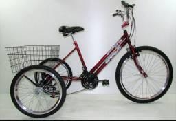Bicicleta triciclo 18 marchas