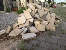 Pedra retificada pra calçada