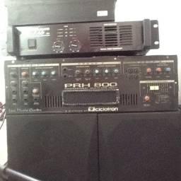 Amplificador Cabeçote Wattsom PRH 800 - Vendo só o Cabeçote
