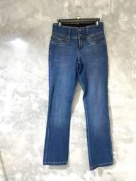 Calça Jeans Skinny com Elástico