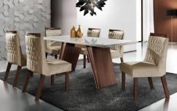 Conjunto Mesa com 6 Cadeiras Itália DJ Móveis