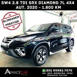 HILUX SW4 SRX DIAMONT 4x4 2.8 DIESEL BLINDADA 2020 1.800km