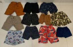 Calças e Bermudas Bebê Tamanhos 1 e 2