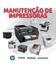 Manutenção de impressoras e recargas de cartuchos e Toner