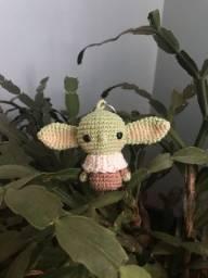 Amigurumi Baby Yoda Chaveiro