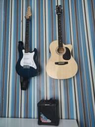 Título do anúncio: Guitarra, violão e um amplificador