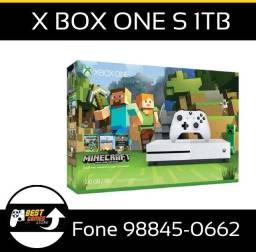 X Box One S Bundle Manicraft 1TB Loja Fisica