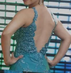 Vestido formatura verde esmeralda