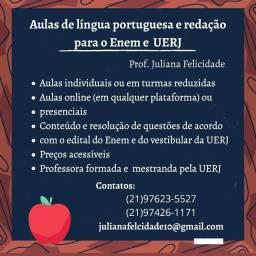 Aulas língua portuguesa, redação e literatura