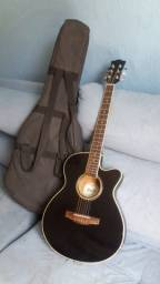Raridade violão elétrico Morris corda de aço flet
