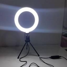Ring Light de Mesa 16cm | Iluminador de Led | Produto Novo
