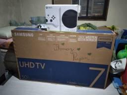 Título do anúncio: TV sansung 50 4k 7series UHD + Xbox one Série S