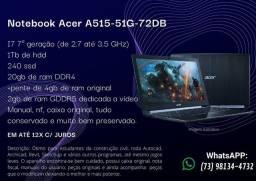 Notebook Acer Aspire 5 I7 20gb RAM