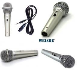 Microfone Karaoke com Fio 2,5 metros