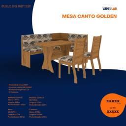 Título do anúncio: Mesa de Canto Golden.Big com 2 Cadeiras (Frete Grátis)