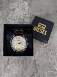 Relógio diesel pulseira em couro