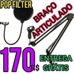 Kit-Pop Filter+Braço Articulado-Entrega Gratis