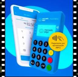 Maquineta Mercado Pago Point Mini Blue Conexão Bluetooth  Aproximação