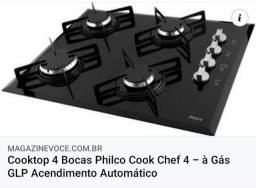Cooktop 4 Bocas Philco Cook Chef 4 - à Gás GLP Acendimento Automático