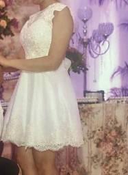 Vestido de noiva longo e curto
