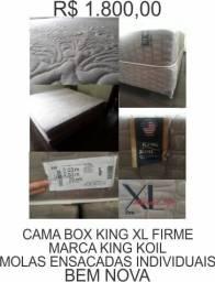 Cama box completa king xl ( a maior do mercado ) king koil molas individuais top